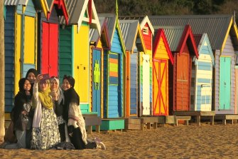 Beach boxes are an iconic part of Port Phillip Bay.