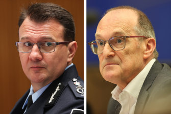 AFP commissioner ReeceKershaw and Philip Gaetjens, secretary of the Department of Prime Minister and Cabinet.