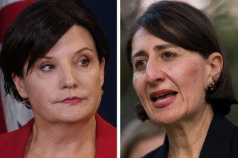 Labor leader Jodi McKay and  Premier Gladys Berejiklian.