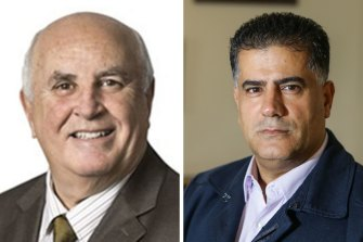 Labor councillor Vince Badalati, left, and Liberal councillor Con Hindi are being investigated by ICAC.