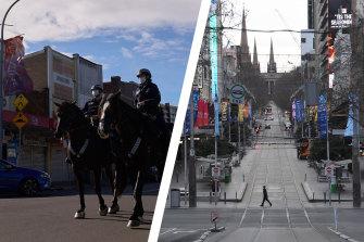 Sydney and Melbourne under lockdown