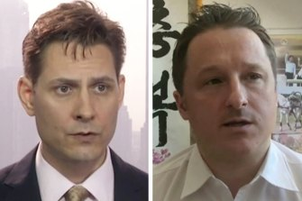 Detained in China: Canadian nationals Michael Kovrig, left, and Michael Spavor.
