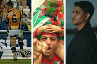 Scenes from the 2020 NRL ad.