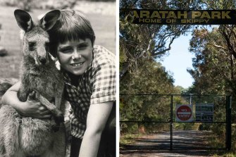 Left: Skippy and Sonny-Garry Pankhurst made Waratah Park a destination. Now it is closed forever.
