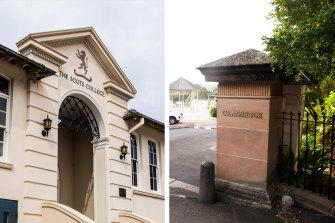 Scots College and Cranbrook School at Bellevue Hill.