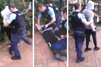 A NSW Police officer's arrest of an Indigenous teenager in Surry Hills last year was caught on camera.
