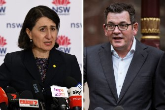 NSW and VIctoria are taking different paths out of lockdown.