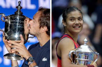Daniil Medvedev and Emma Raducanu both received almost $3.5 million AUD for winning their first majors at the US Open.