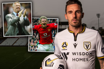 Macarthur's Matt Derbyshire gave up the chance to play with stars such as David Beckham at Manchester United under Alex Ferguson to join Blackburn Rovers.
