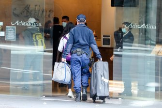 In NSW, police escorted people to hotel quarantine.
