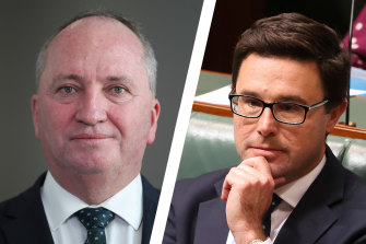Barnaby Joyce has returned to the Nationals leadership with David Littleproud as his deputy.