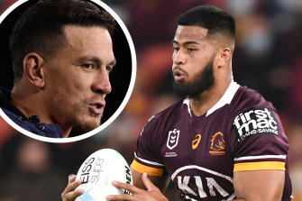 Payne Haas has been taking advice from Sonny Bill Williams.
