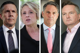 Mark Butler, Kristina Keneally, Richard Marles and Chris Bowen all have new responsibilities after the Labor reshuffle.