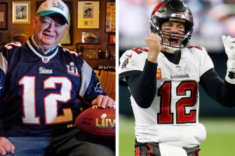 Patriots fan Don Crisman's heart has followed Tom Brady south to Florida since the superstar quarterback left the New England franchise.