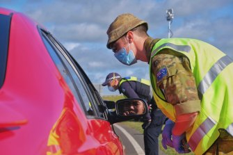 ADF personnel assisted Victorian police in last year's outbreak.