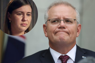 Labor has accused Scott Morrison of presiding over a 'don't ask, don't tell' culture after the Liberal staffer Brittany Higgins, inset, said she was raped in Parliament House.