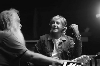 Paul McCartney and Rick Rubin in the six-part documentary.