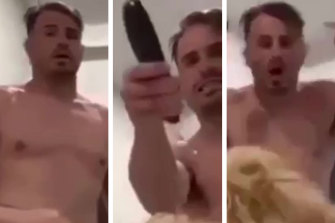 Josh Reynolds was filmed shouting at his now-ex partner Arabella Del Busso.