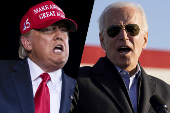 US President Donald Trump and Democratic nominee Joe Biden have each painted the other as unfit for office.
