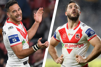 Corey Norman and Ben Hunt have struggled for consistency during their time at the Dragons.