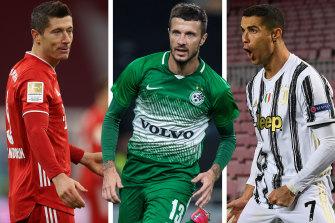 Forgotten Socceroos attacker Nikita Rukavytsya's goalscoring record this season ranks him among Europe's elite, including Robert Lewandovski and Cristiano Ronaldo.
