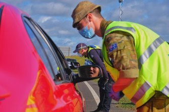 ADF personnel are working alongside Victoria Police to enforce COVID-19 restrictions.
