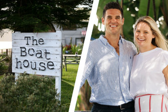 The Boathouse's original owners,   Andrew and Pip Goldsmith.