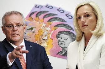 Supporters of former Australia Post CEO Christine Holgate sent $5 notes to Prime Minister Scott Morrison.