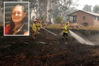 Vivian Chaplain, inset, died protecting her home from the bushfires in Wytaliba.