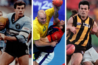 Mark McGaw and Chris Langford were part of a short-lived Seven experiment that tried to turn ex-footy players into Olympians.