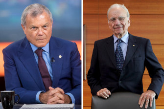 Two of McLennan's influential bosses: Sir Martin Sorrell (left) and Rupert Murdoch (right).