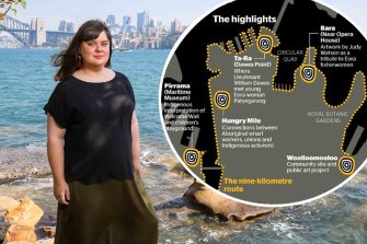 The walk was an acknowledgement of Country in its truest and most ancient form, Emily McDaniel said.