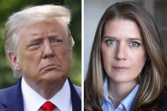 Mary Trump, right, has sued Donald Trump, left, and other family members in a Manhattan court.