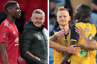 Manchester United's talks with the Central Coast Mariners are in the early stages.