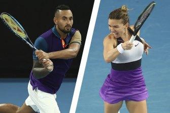 Nick Kyrgios and Simona Halep will be back on court tomorrow.
