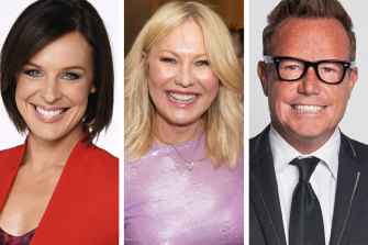 Natarsha Belling (left), Kerri-Anne Kennerley and Tim Bailey are among those understood to have lost their jobs at Network 10.