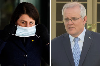 Prime Minister Scott Morrison has backed NSW Premier Gladys Berejiklian's plan to open up at 70 per cent vaccination.
