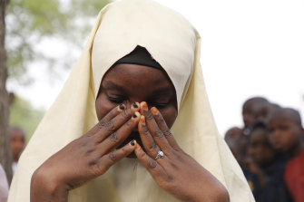 One of the students left behind when armed men kidnapped 317 girls from a junior secondary school in Jangebe, Nigeria, on Friday.