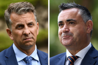 Both out of the race: Andrew Constance and John Barilaro.