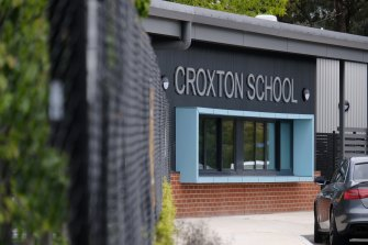 Croxton School has also been locked down due to the northern metro outbreak.