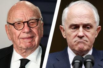 Malcolm Turnbull and Rupert Murdoch.