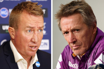 Roosters coach Trent Robinson is looking to do with his team what Craig Bellamy has achieved with the Storm.