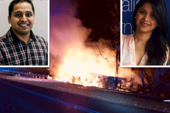 Harshwardhan Narde and Preethi Reddy were both dentists and in a relationship before police suspected he killed her prior to driving his car into a tree.