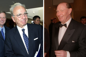 Rupert Murdoch and Kerry Packer.