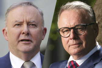 Labor antagonists: Opposition Leader Anthony Albanese, left, and Hunter MP Joel Fitzgibbon.