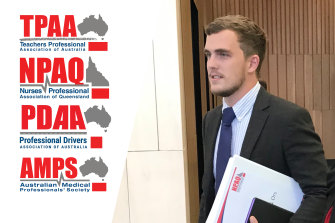 Red Union director Jack McGuire will not say whether the associations are for or against coronavirus vaccines, instead saying they want to uphold the law and represent their members.