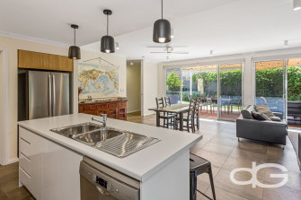 Ms Majeks will be able to start showing her portfolio of properties again, including this double-storey house near South Beach in South Fremantle.