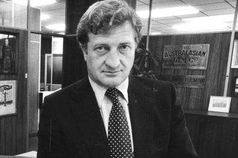 Then Carlton president John Elliott in 1985.