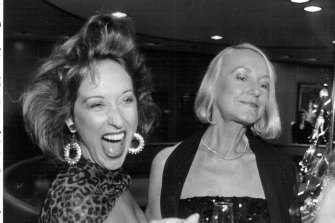 Frost with her mother Billie North – who ran a deportment school and modelling agency in Brisbane – in 1987.