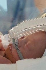 Vivian Pearce in Nepean Hospital's neonatal intensive care unit.